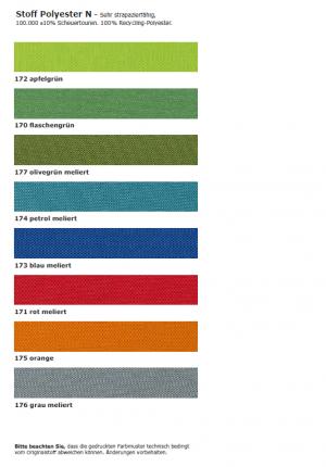 Stoffmusterkarte Polyester N