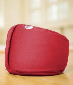 ergonomisch geformtes Erzieherinnen-Sitzkissen in weinrot